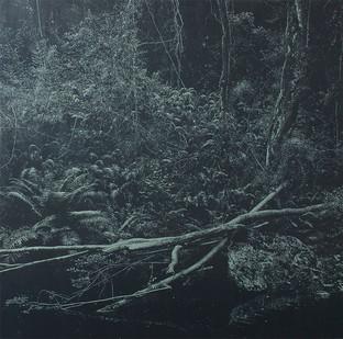 Peter Eastman | Deep Chine - Broken River | 2016 | Oil on Aluminium | 200 x 200 cm