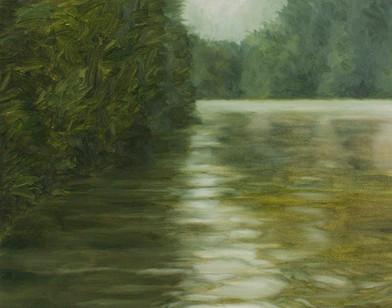 Jake Aikman | N10.856698, W85.775892 | 2013 | Oil on Paper | 31 x 40 cm