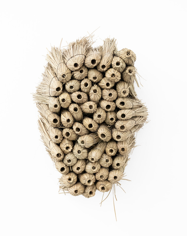 Usha Seejarim   Home 2   2019   Grass Brooms and Wire   80 x 56 x 60 cm