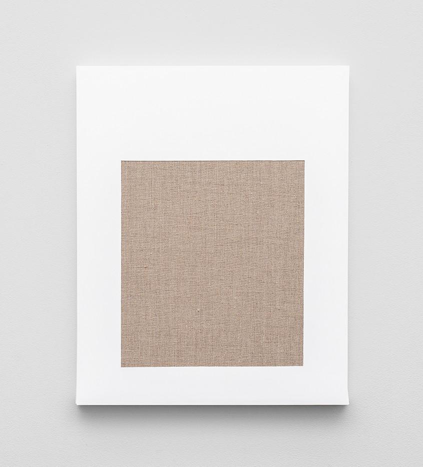 Pierre Vermeulen | Gesso Space nr 2 | 2020 | Gesso on Belgian Linen | 50 x 40 cm
