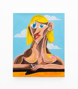 Callan Grecia | STATUESQUE | 2021 | Acrylic on Canvas | 51 x 41 cm