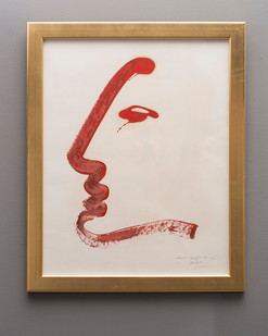 Christo Coetzee | Profile | n.d. | Oil on Paper | 63 x 49 cm