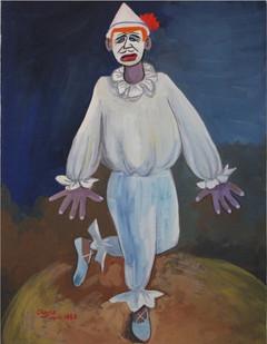 Peter Clarke | Dancing Clown | 1953 | Gouache on Paper | 36 x 27 cm