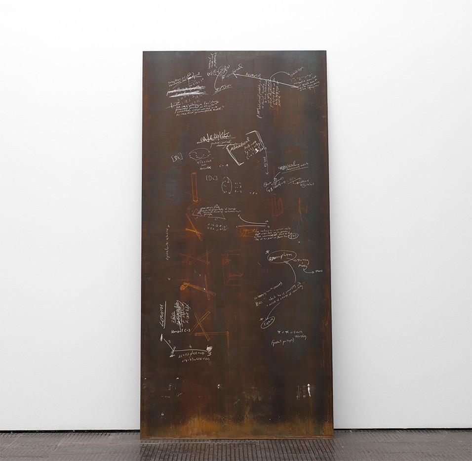 Ruann Coleman   Faktura   2017   Oxidised Steel   247 x 121 cm