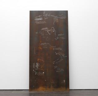 Ruann Coleman | Faktura | 2017 | Oxidised Steel | 247 x 121 cm