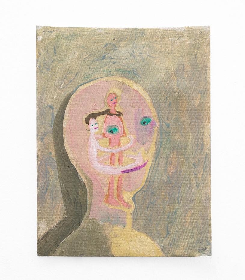 Marlene Steyn   Touchy touchy on the inside   2018   Oil on Canvas   30 x 23 cm