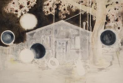Uwe Wittwer | Haus Negativ | 2012 | Watercolour on Paper | 153 x 224.5 cm