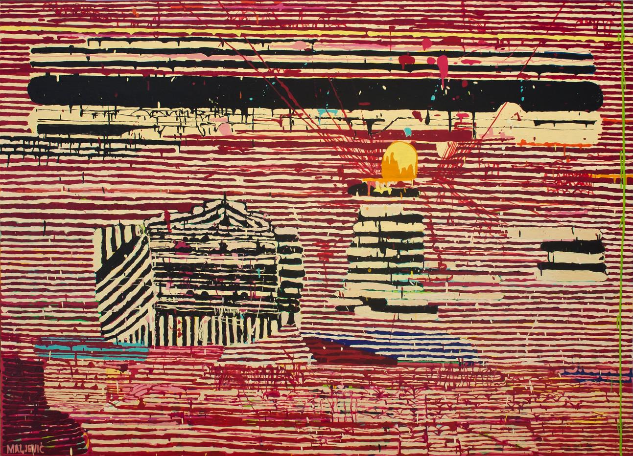 Maja Maljevic | Between the Lines | 2013 | Oil on Canvas | 150 x 200 cm