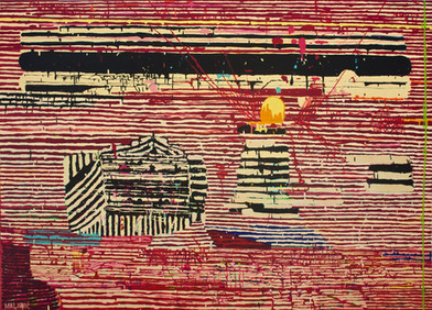 Maja Maljevic   Between the Lines   2013   Oil on Canvas   150 x 200 cm
