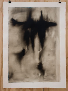 Alexandra Karakashian | Collapse (Study II) | 2015 | Oil on Paper | 75 x 54 cm