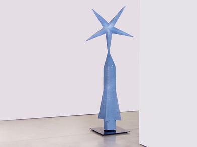 Barend de Wet | Azure Blue | 2012 | Enamel Paint on Welded Steel | 262 x 101 cm