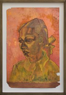 Albert Adams | Portrait | 1950 | Oil on Paper | 51 x 33 cm