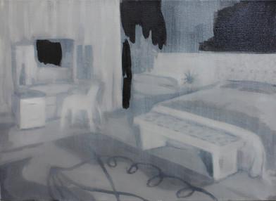 Kate Gottgens | Petty Crime I | 2012 | Oil on Canvas | 30.5 x 40.5 cm
