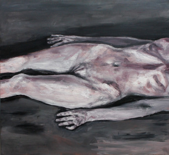 Johann Louw | Naak Onderlyf | 2012 | Oil on Plywood | 133 x 122 cm