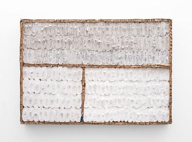 Wallen Mapondera | Untitled | 2021 | Toilet Paper & Cardboard on Board | 90.5 x 131 x 12 cm