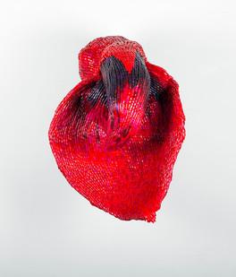 Frances Goodman | Hooded Lady I | 2016 | Acrylic Nails, Foam, Resin and Silicone Glue | 90 x 65 x 66 cm