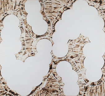 Sandile Zulu | Artoms Archetype Forms Case 12 | 2012 | Fire, Water, Air and Earth on Canvas | 160 x 145 cm