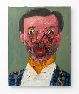 Georgina Gratrix | The Belgian Collector (Not Vincent) | 2020 | Oil on Canvas | 70 x 55 cm