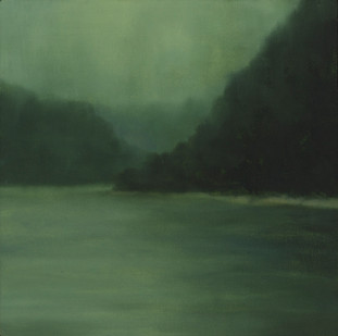 Jake Aikman | The Bend | 2014 | Oil on Canvas | 30.5 x 30.5 cm
