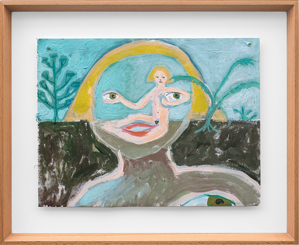 Marlene Steyn   Her eyes on horizon   2018   Oil on Canvas   23 x 30 cm