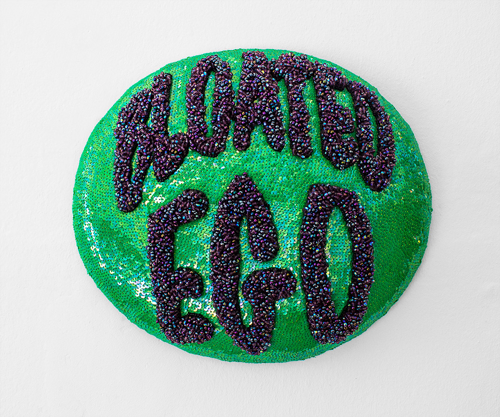 Frances Goodman | Bloated Ego | 2009 | Beads, Silk and Thread | 33 x 40 x 15 cm