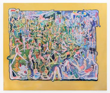 Marlene Steyn | ferny chirr re a rangers | 2019 | Oil on Canvas | 160 x 190.5 cm