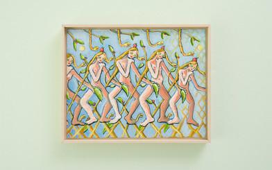 Marlene Steyn   Leaves of the Eves   2018   Oil on Canvas Board   35.5 x 45.5 cm