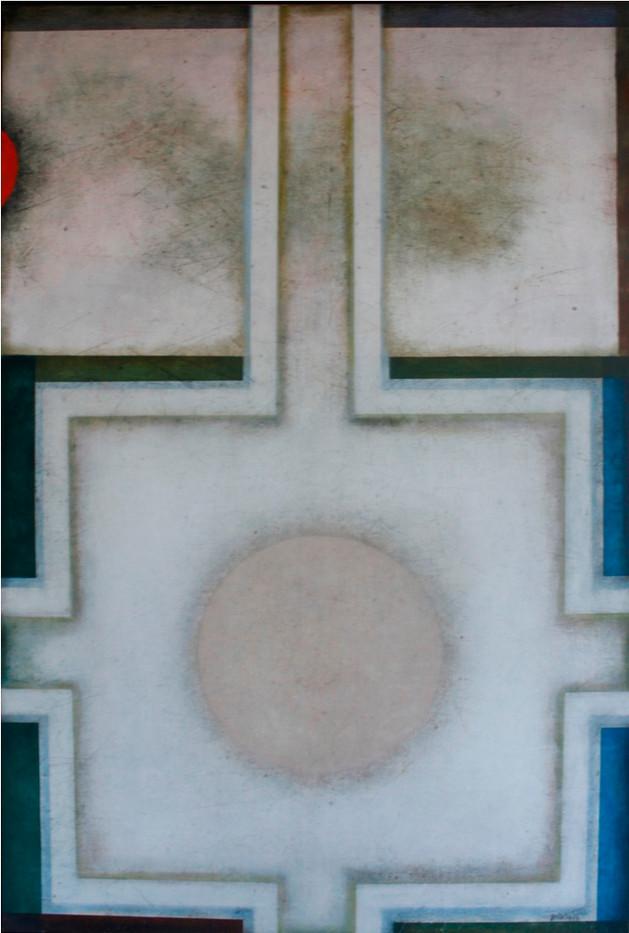 Douglas Portway | Untitled | 1974 | Oil on Canvas | 183.5 x 122 cm