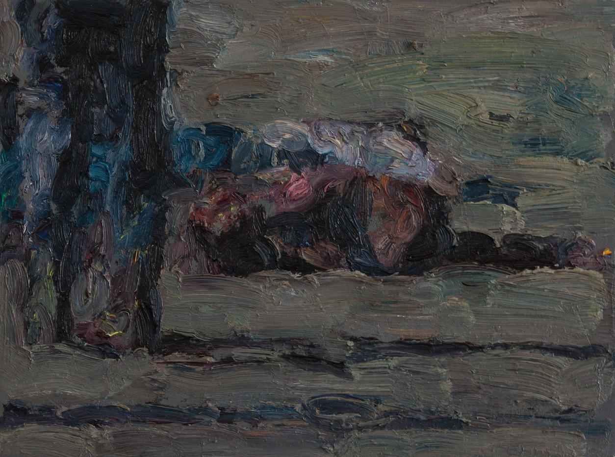 Anton Karstel | Marikana (2) | 2013 | Oil on Canvas | 30 x 40 cm