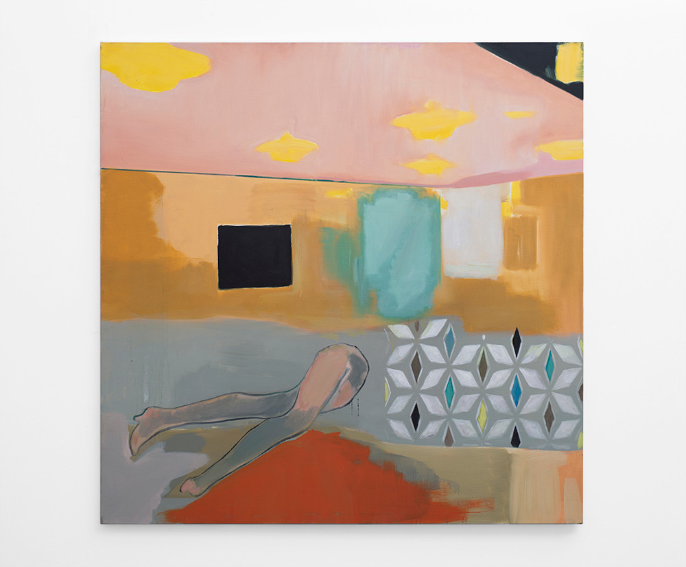Kate Gottgens   Your dinner is on the table   2017   Oil on Canvas   150 x 150 cm