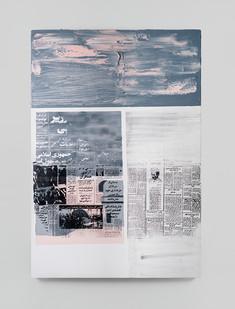 Sepideh Mehraban | Poet | 2021 | Mixed Media on Canvas | 110 x 75 cm