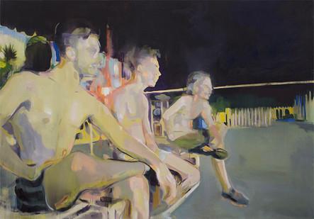 Kate Gottgens | Night Games | 2015 | Oil on Canvas | 85 x 120 cm