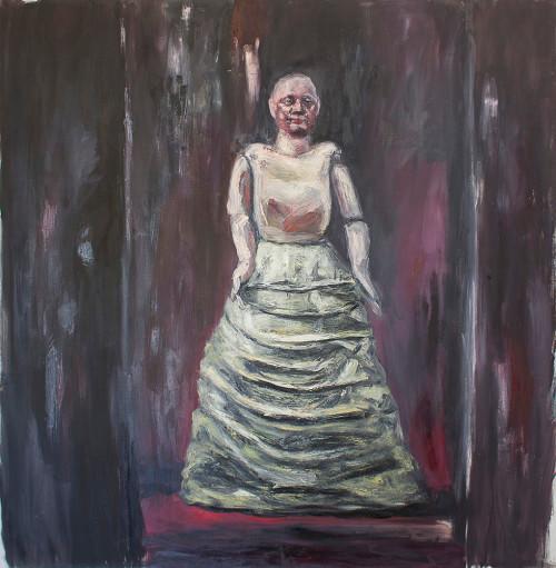 Johann Louw | Mannekyn Volfiguur | 2015 | Oil on Canvas | 205 x 202 cm