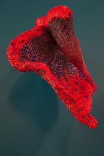 Frances Goodman | Hooded Lady II | 2016 | Acrylic Nails, Foam, Resin, Silicone Glue | 90 x 65 x 66 cm