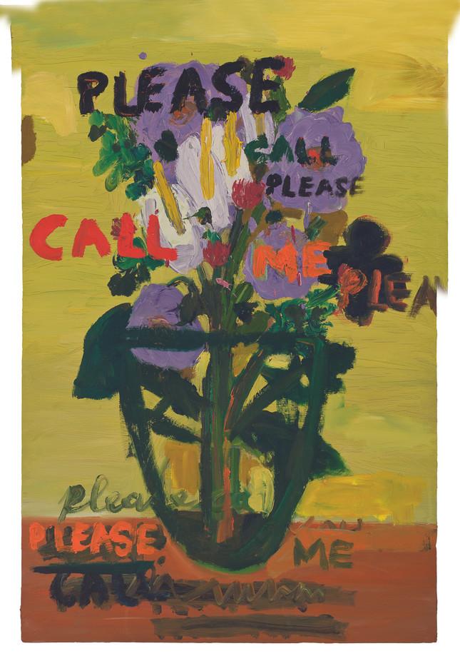 Georgina Gratrix   Please Call Me   2011   Oil on Board   120 x 80 cm