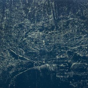 Peter Eastman | Deep Chine - Big Pool | 2015 | Oil on Aluminium | 200 x 200 cm