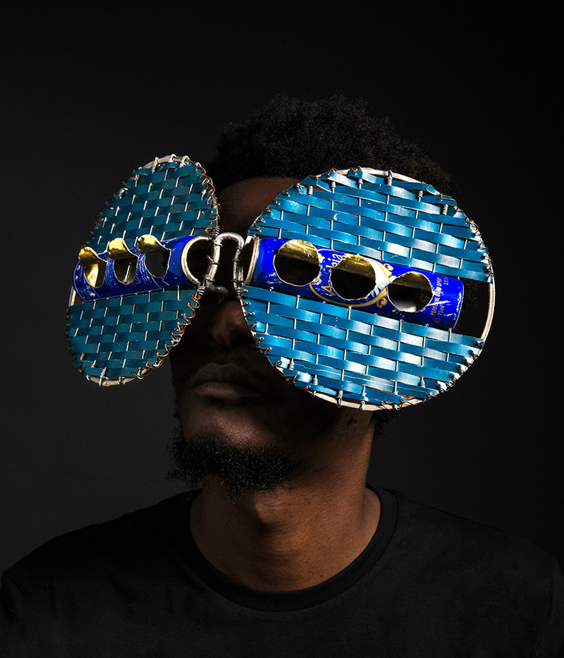 Cyrus Kabiru | Macho Nne: Blue Rushes | 2017 | C-type Print on Diasec Mount | 70 x 60 cm