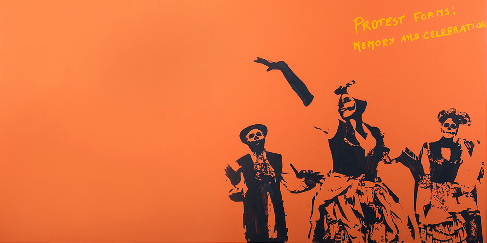 Marinella Senatore | Protest Forms #3 (Detail) | 2013 | Lacquer on Canvas | 100 x 70 cm
