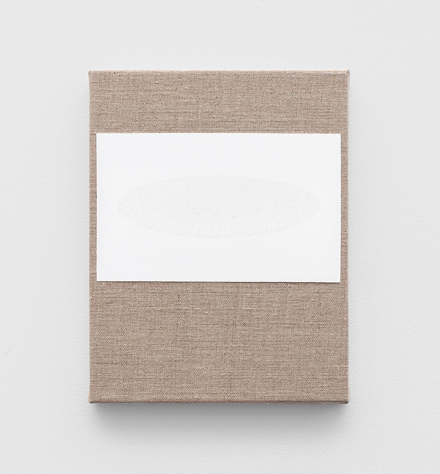 Pierre Vermeulen | Gesso and Glass Space nr 3 | 2020 | Gesso and Glass on Belgian Linen | 26 x 20 cm