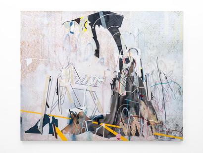 Asha Zero | letter | 2018 | Acrylic on Board | 164 x 205 cm