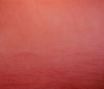 Jake Aikman | Untitled II (Rose) | 2015 | Oil on Linen | 169 x 198 cm