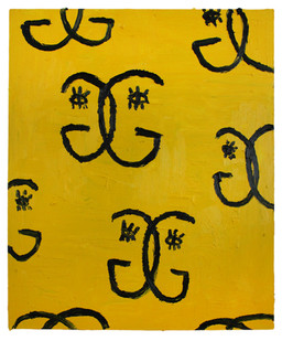 Georgina Gratrix | Signature Piece | 2012 | Oil on Board | 125 x 100 cm