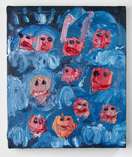 Georgina Gratrix | Plett Rave | 2016 | Oil on Canvas | 40 x 30 cm