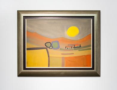 Charles Gassner   Landscape   n.d.   Acrylic on Board   55 x 75.5 cm