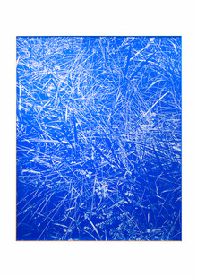 Peter Eastman | Blue Riverbed | 2020 | Oil on Aluminium | 160 x 130 cm