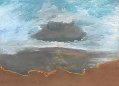 Kevin Atkinson | Untitled (Karoo Landscape 4) | c. 1985 | Pastel on Paper | 50 x 70 cm