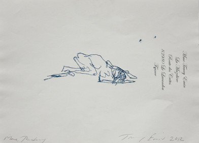 Tracey Emin | More Thinking (Recto) | 2012 | Monoprint on Paper | 21 x 30 cm