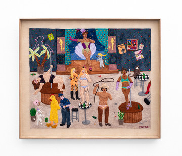 Michaela Younge   'He no longer did fire-breathing, but his breath had a lingering smell of paraffin, that no amount of gin could conceal'   2020   Merino Wool on Felt   68 x 60.5 cm