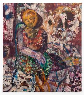 Mostaff Muchuwaya   Untitled   2018   Acrylic on Canvas   157 x 140 cm