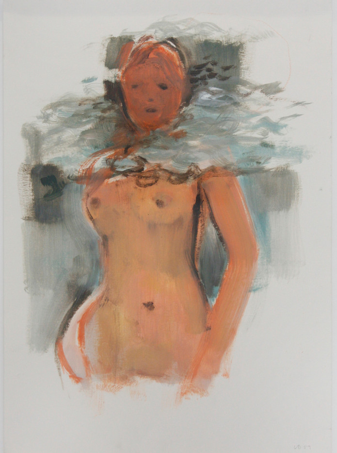 Lisa Brice   Water Floating By   2009   Oil on Paper   42 x 29.7 cm